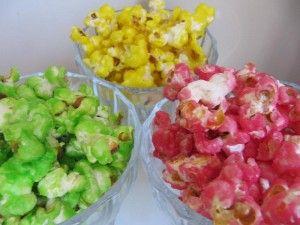 popcornin värjäys