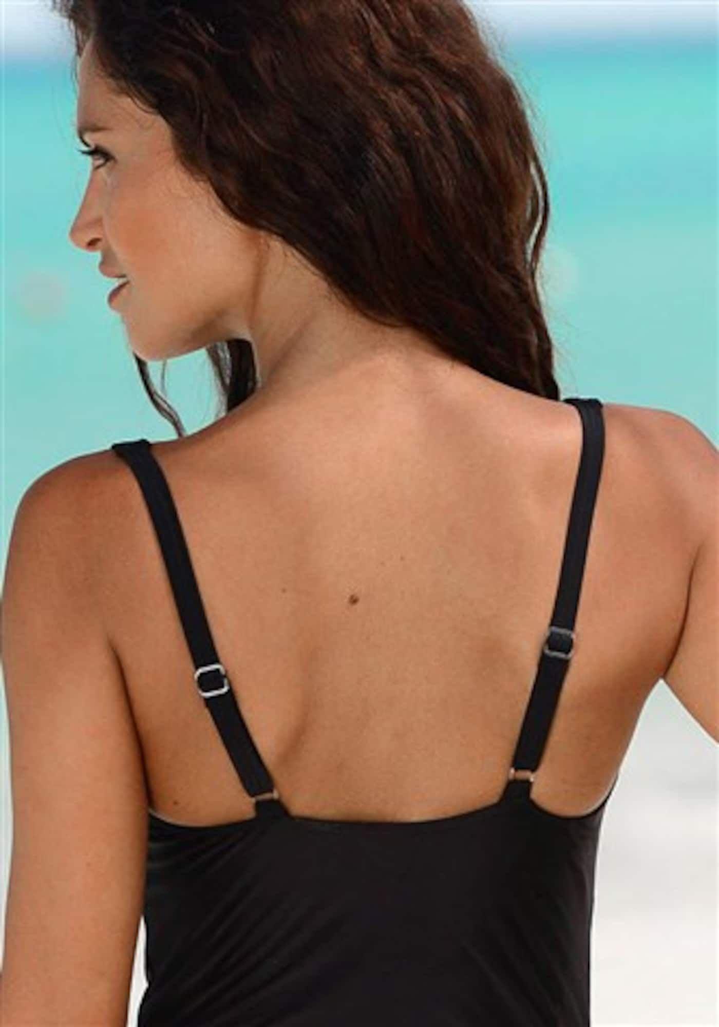 LASCANA Badeanzug Damen Schwarz / Weiß Größe M/L – Swimsuit