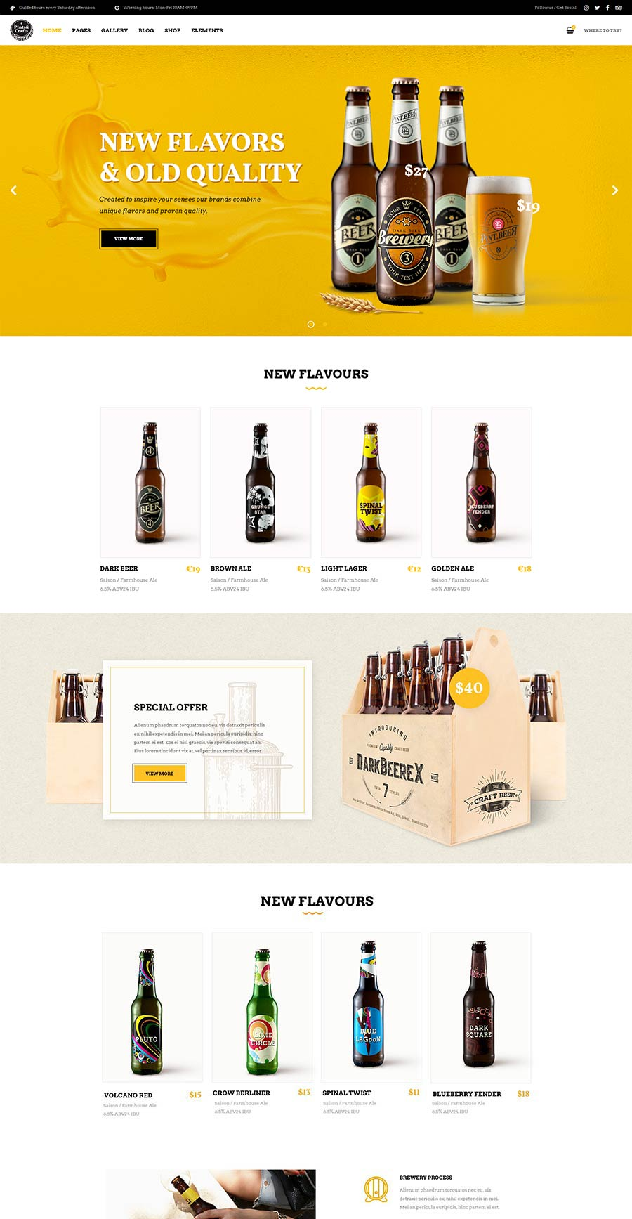 Pints&Crafts Bar, Beer & Pub Theme в 2020 г Дизайн