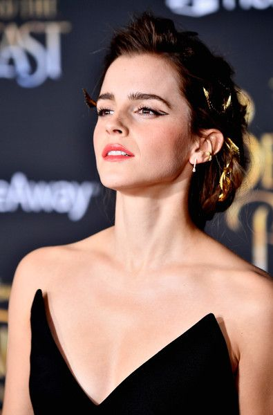 Emma Watson Photos Photos - Actress Emma Watson attends Disney's 'Beauty and the Beast' premiere at El Capitan Theatre on March 2, 2017 in Los Angeles, California. - Premiere Of Disney's 'Beauty And The Beast' - Arrivals