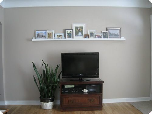 At Home With H Stand Up Wall Decor Above Tv Shelf Above Tv