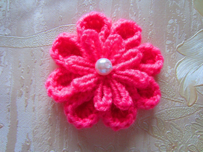 Вяжем цветок крючком / Кnit crochet flower