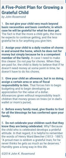 A Five-Point Plan for Growing a Grateful Child