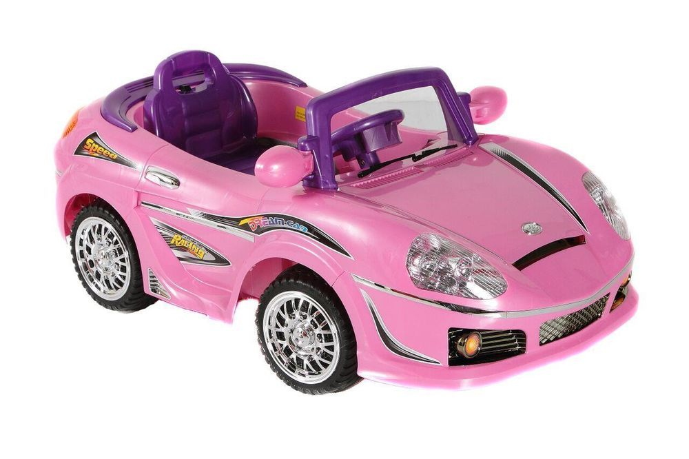06c6f4f085f Ride On Cars Toy for Kids Powered Wheels 6V Convertible Dream Car Pink New   RideOnCars