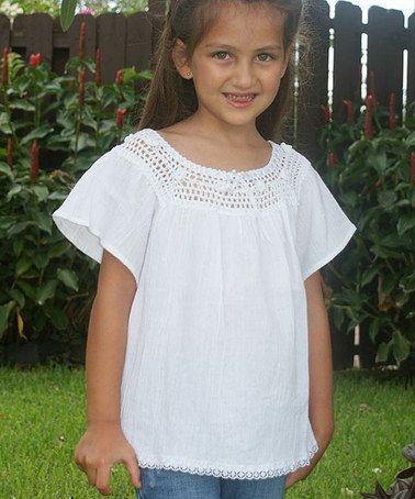 Look at this #zulilyfind! White Flower Lucita Knit Top - Infant, Toddler & Girls by Little Cotton Dress #zulilyfinds