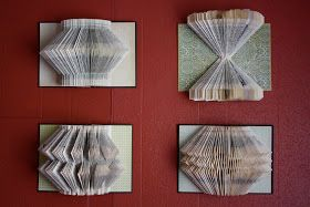 A Whimsy Willow: Book Art Tutorial - how to fold pages for wall hanging