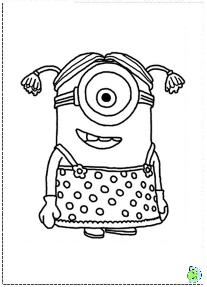 minion girl despicable me coloring pages minions coloring pages girls coloring pages disney coloring pages free online coloring pages and printable - Free Coloring Pages For Girls 2