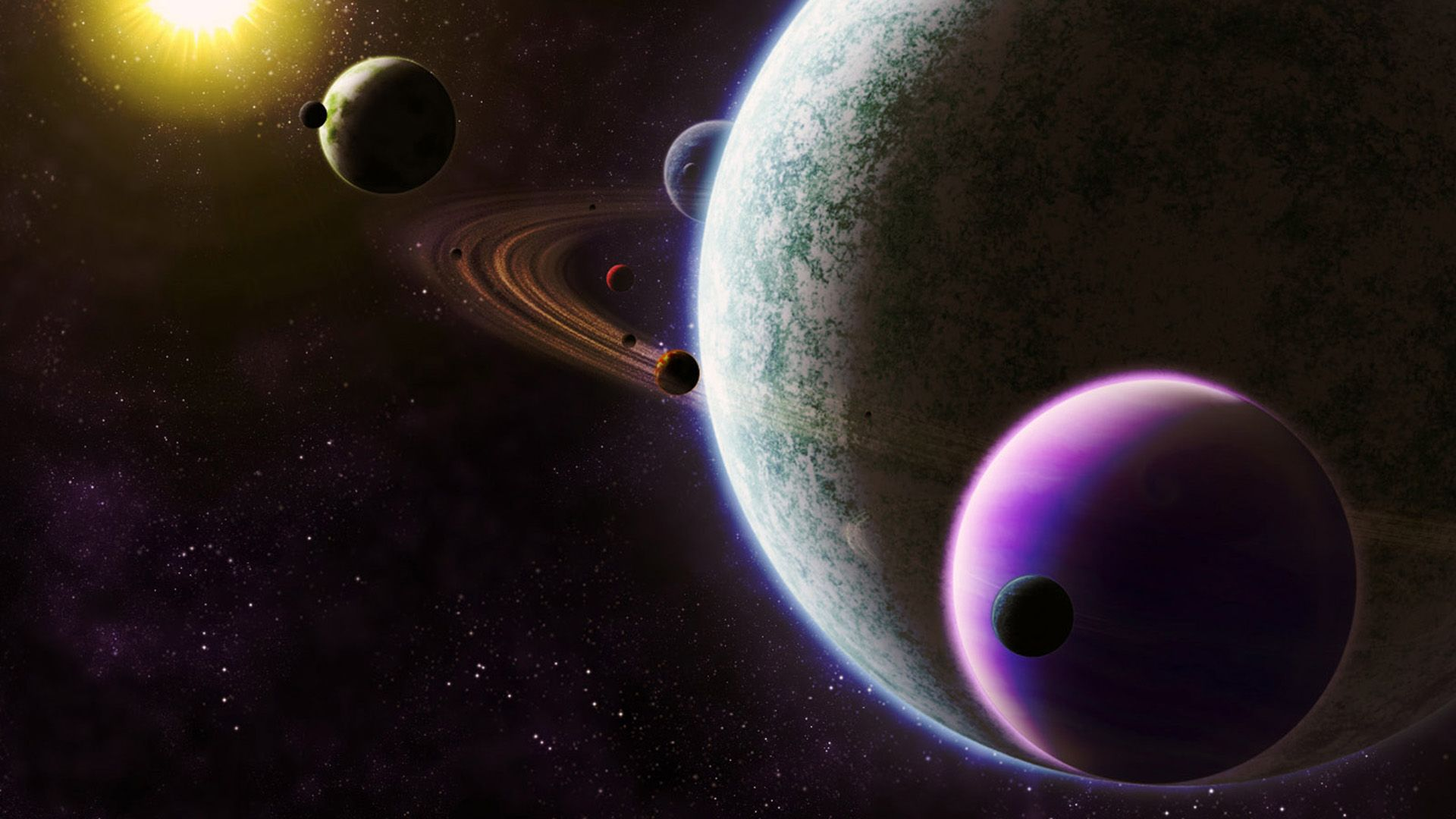 Planets Orbits Planets Solar System Wallpaper Space Art Wallpaper