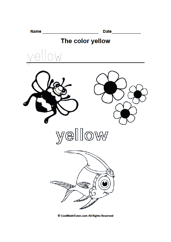 Things Are Yellow Worksheet