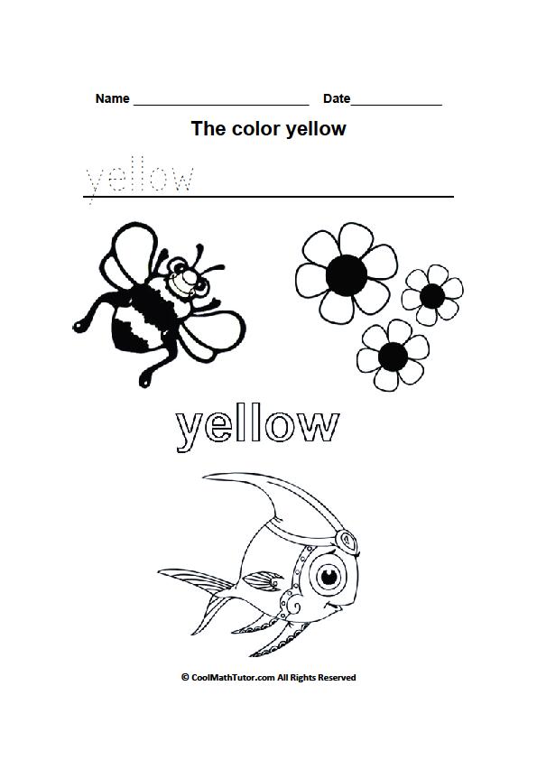 Color Yellow Worksheets For Kindergarten Atividades Escolares Atividades Escola