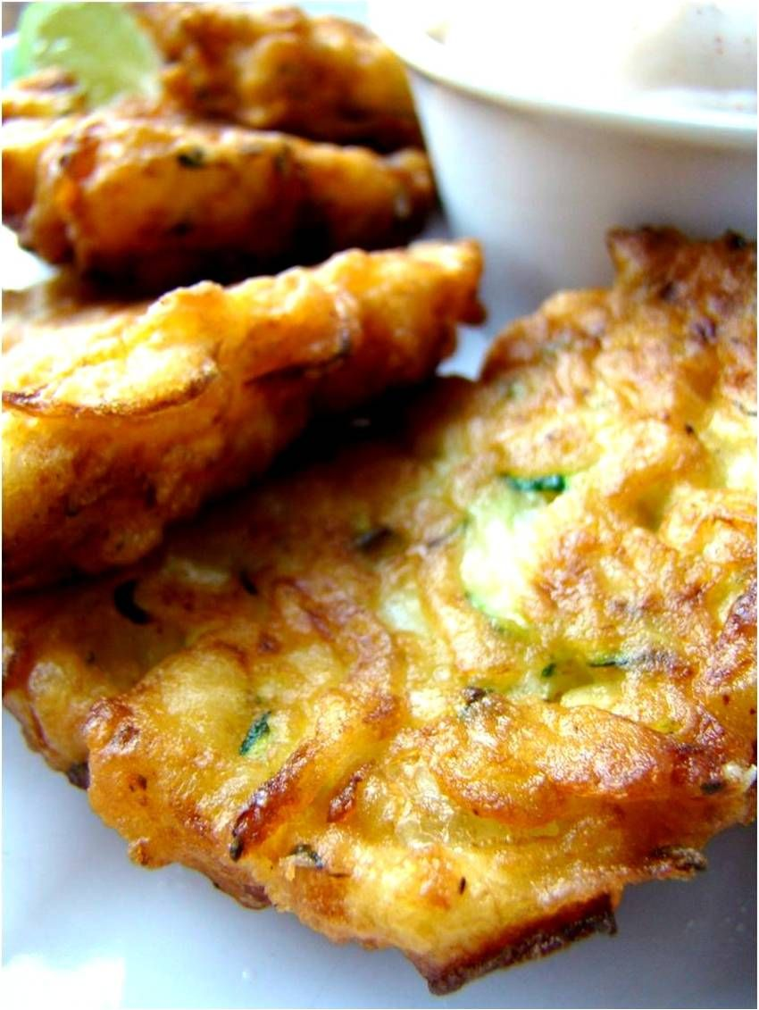 Zucchini Fritters with Chili Lime dip
