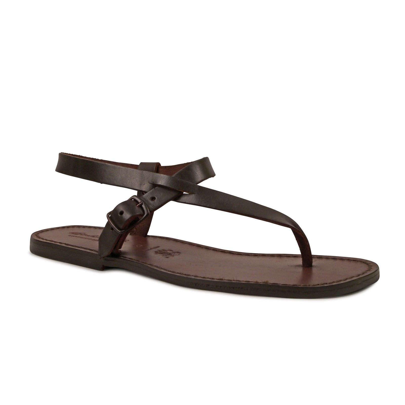 1789390843fc Handmade brown leather thong sandals for men