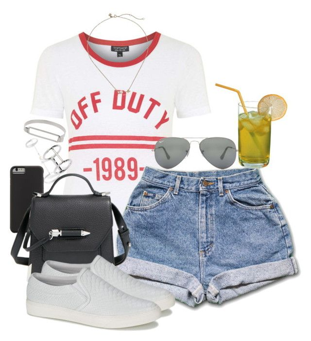 """Bez naslova #495"" by nely01 ❤ liked on Polyvore featuring Topshop, Ray-Ban, Rebecca Minkoff, Case-Mate, Mackage and Jonak"
