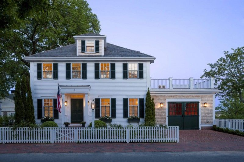 White House Dark Green Shutters House Styles Colonial House
