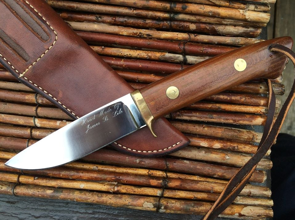 kitchen knives forum lile drop point hunter loveless style handmade custom knives edge matters knife 9987