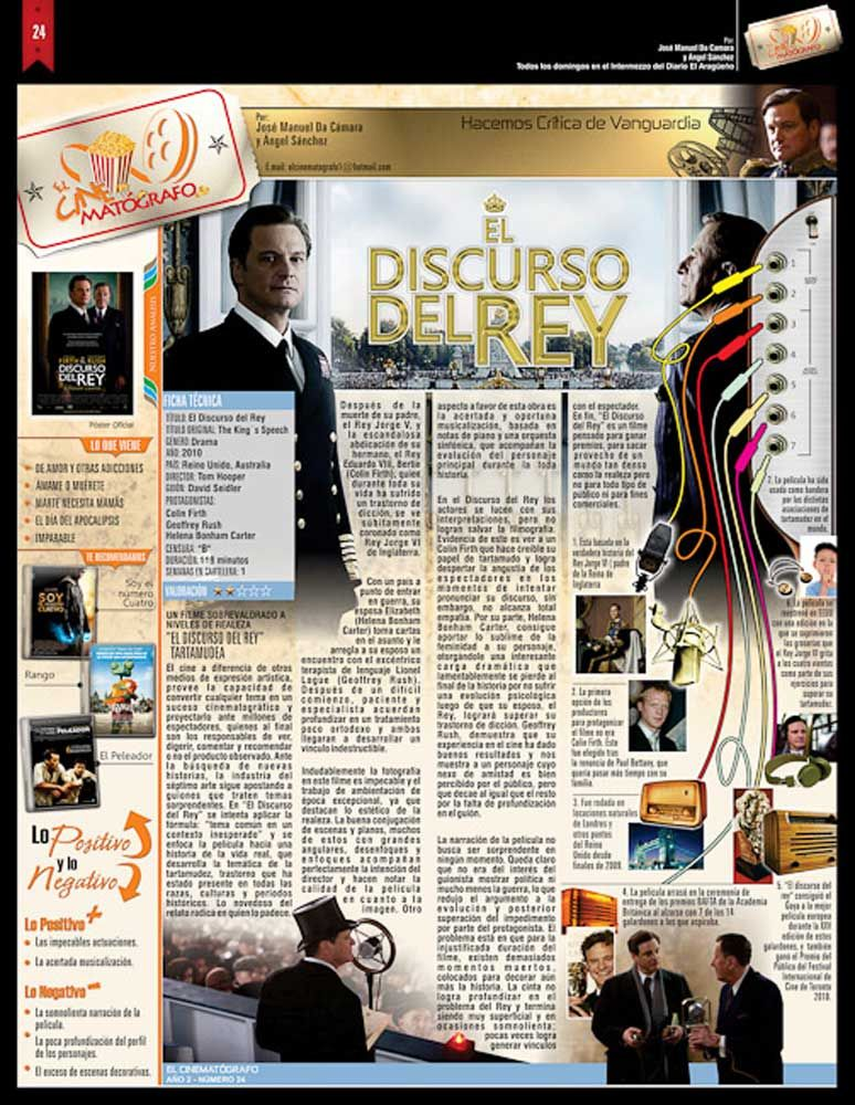 El Cinematografo No 24 Pelicula El Discurso Del Rey Yearbook Photo Wall Photo