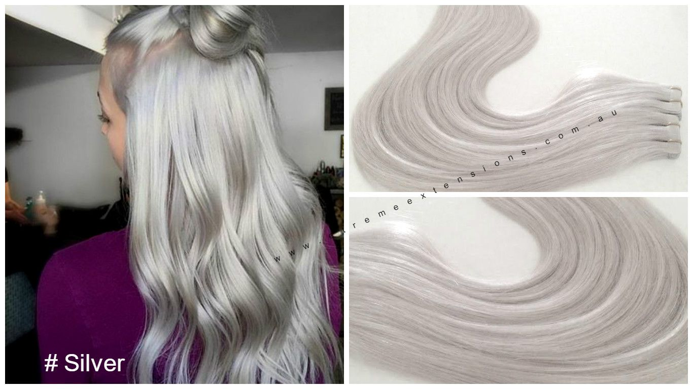 Silver Tape Hair Extensions Most Stunning Soft Virgin Remy Hair