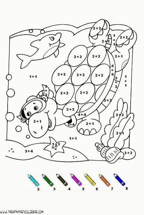 Fichas Para Colorear Con Sumas Y Restas De Personajes Buscar Con