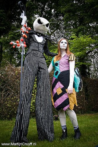 Jack Skellington and Sally couples costumes (Nightmare before Christmas)  sc 1 st  Pinterest & Jack Skellington and Sally couples costumes (Nightmare before ...