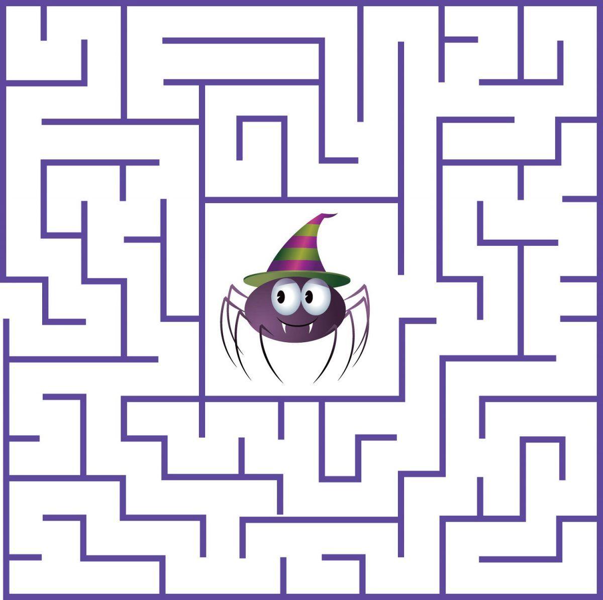 Fun Mazes For Kids Spider