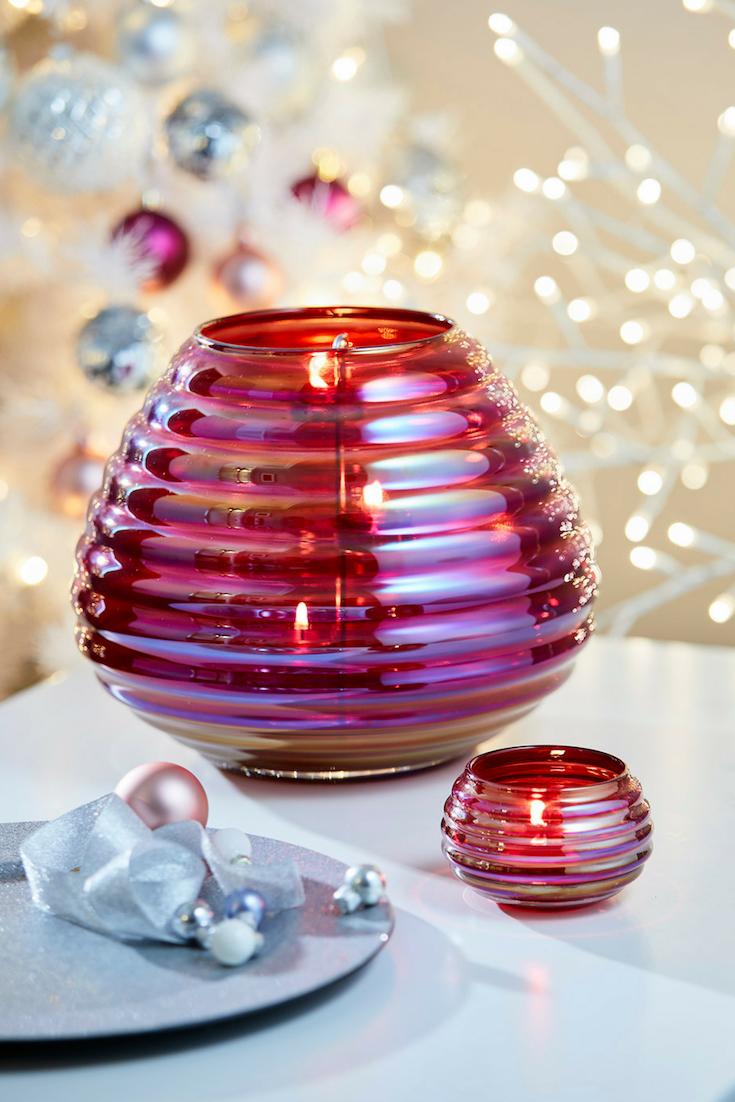 Bring Festive Fragrances And Delightful Decor Into Your Home Seen Here Jubilee Hurricane And Tealight Holder Windlicht Teelicht Teelichthalter