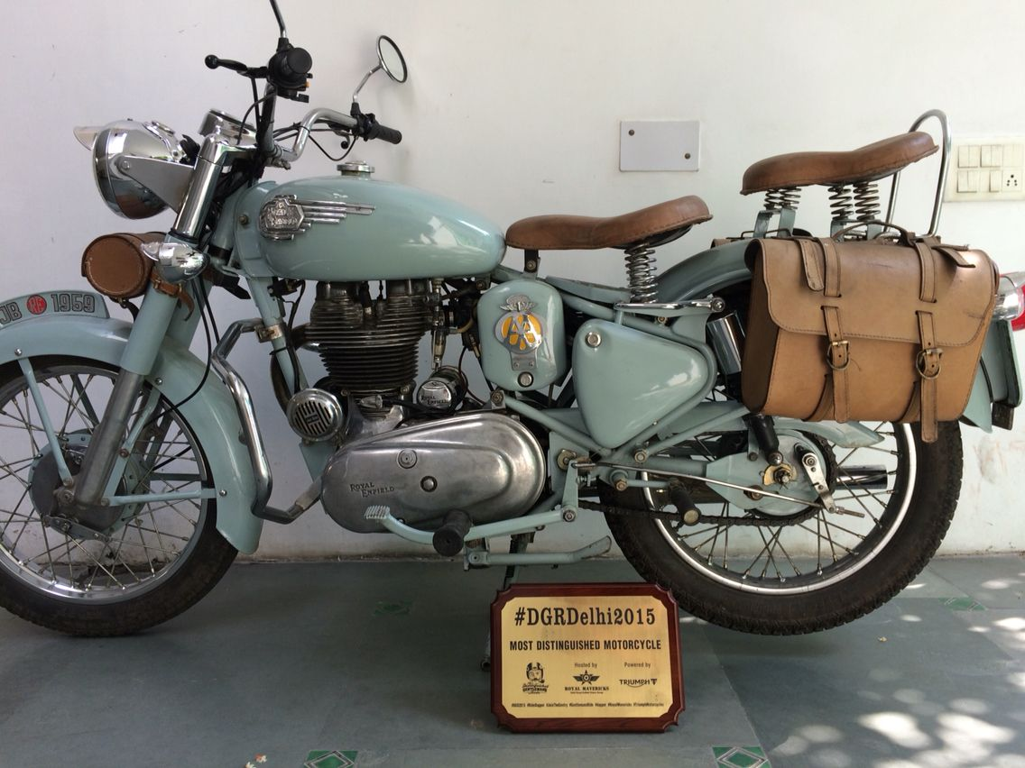 Most distinguished motorcycle 2015 in Delhi Old