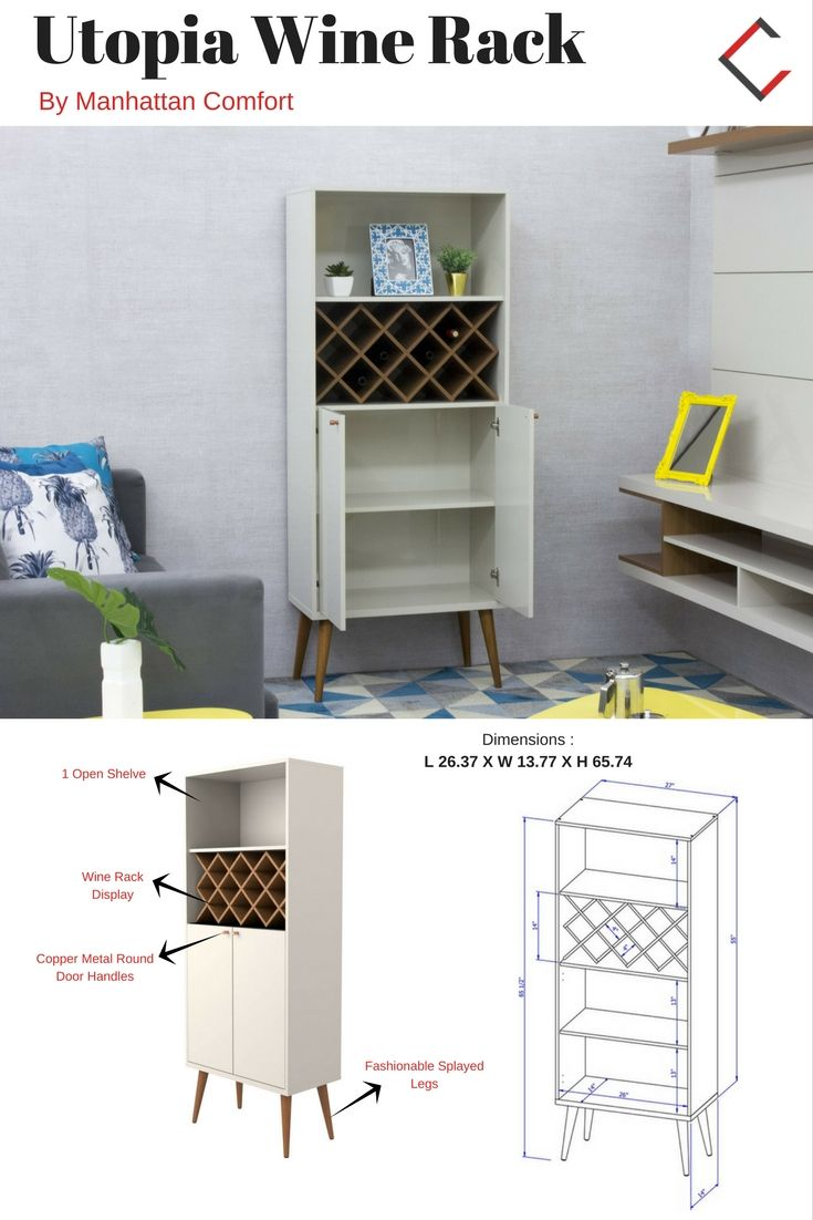 Utopia Off White Maple MDF 4 Shelves Storage Wine Rack | The Classy Home  Furniture Mall | Pinterest | Wine Rack, Shelves And Storage