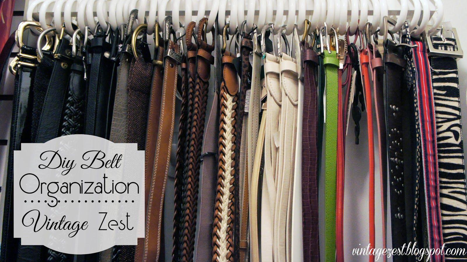 Organizing Belts On Pinterest Belt Organization Belt Storage And Organize Ties