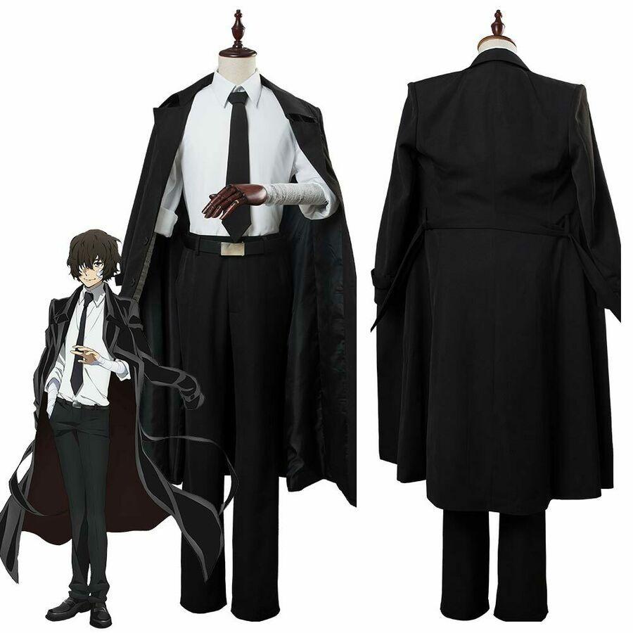 Bungou Stray Dogs Season 3 Osamu Dazai Cosplay Costume Suit Trench Coat Outfit