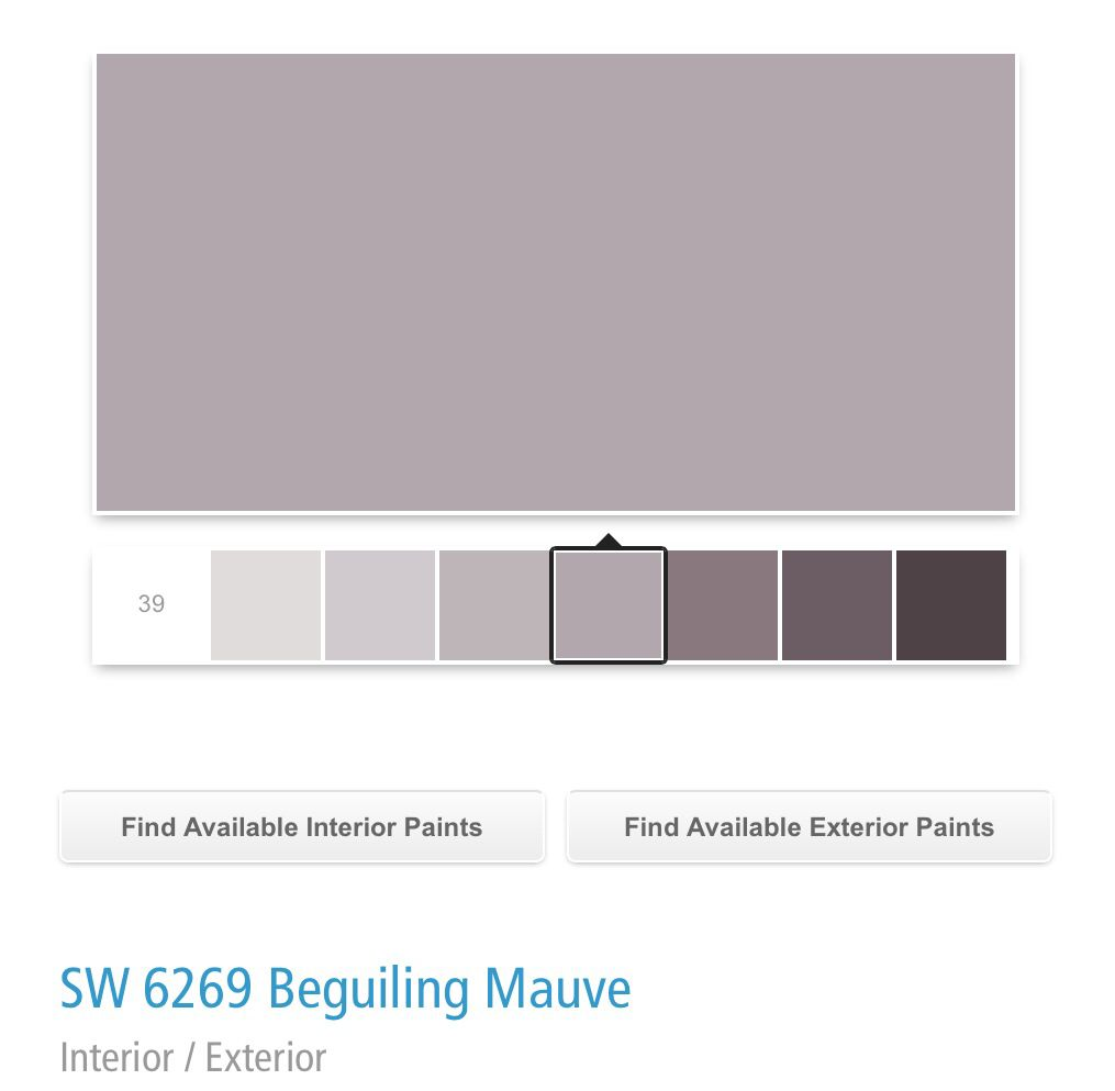 Sherwin Williams Sw 6269 Beguiling Mauve For The Home