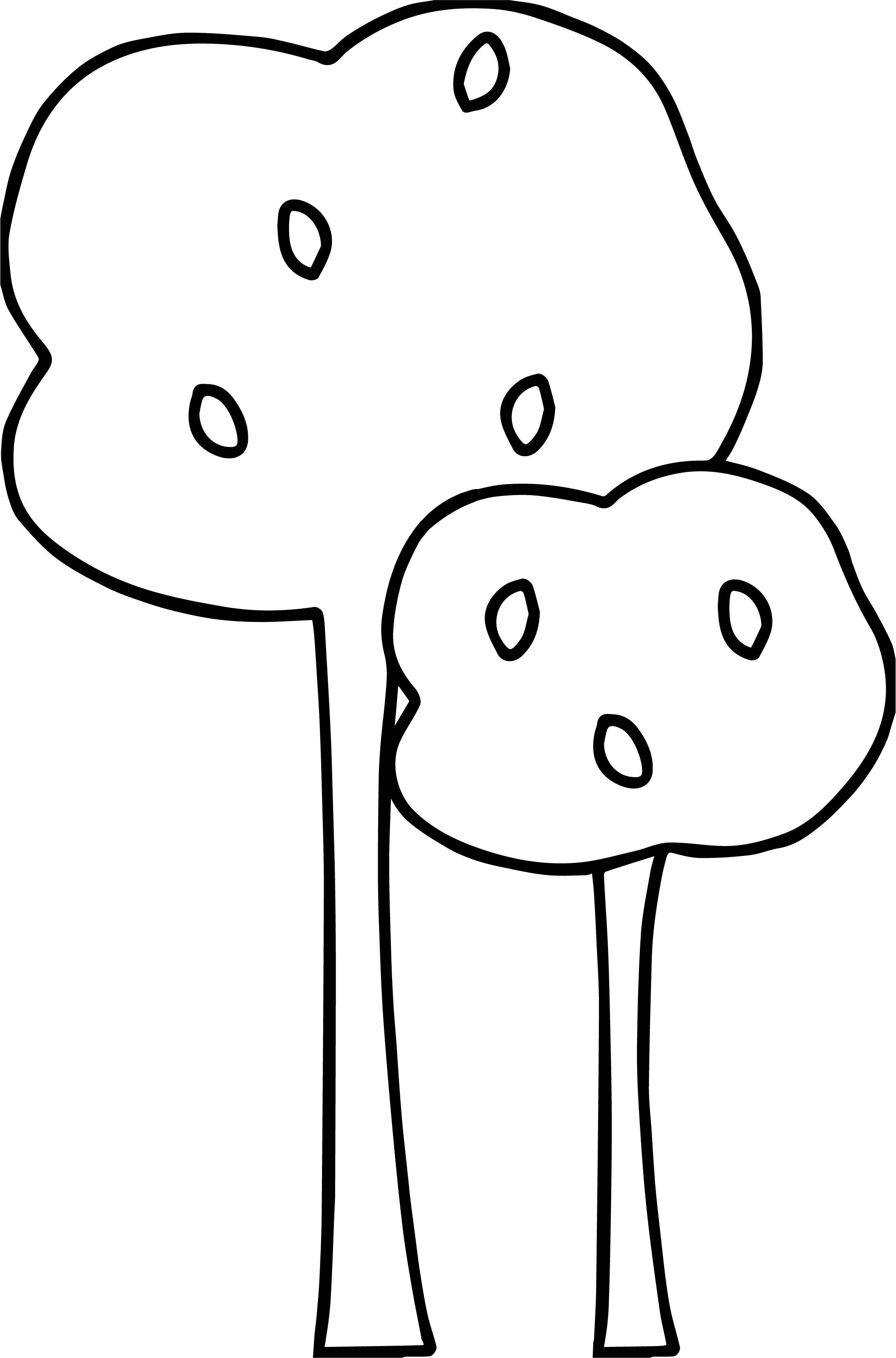 Nice Autumn Small And Tall Tree Coloring Page Tree Coloring Page Flower Coloring Pages Coloring Pages