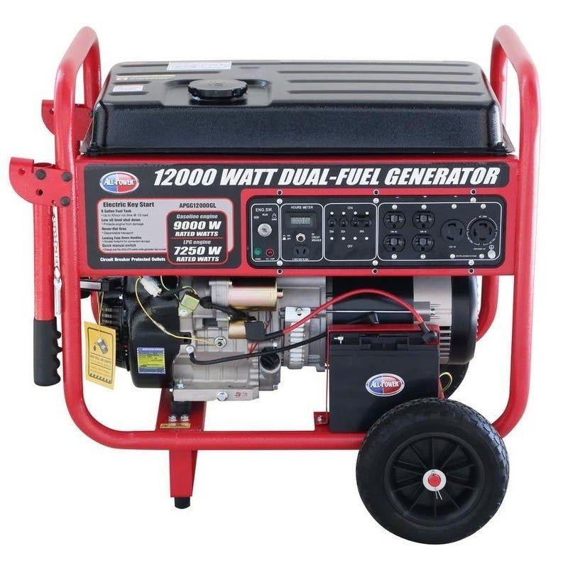 12 000 Watt Dual Fuel Propane And Gasoline Powered Electric Start Portable Generator Portable Generator Best Portable Generator Generator House