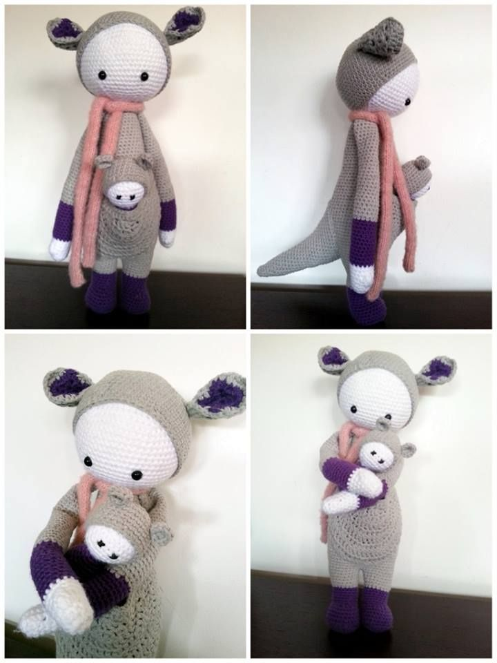 KIRA the kangaroo made by Maman Doudou / crochet pattern by lalylala ...