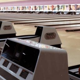 Bowling Alley At The Showboat 1987 Atlantic City City Bowling