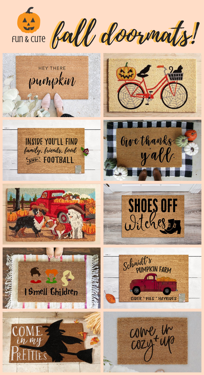 11 Cute Fall Doormats | Home Decorating for Fall - joyfully so