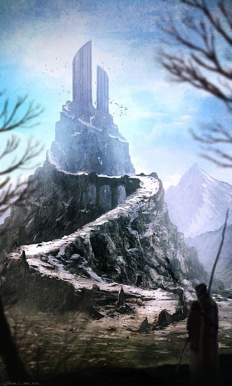 Tower in the icy north | Fantasy / Sci-Fi Art | Fantasy ...