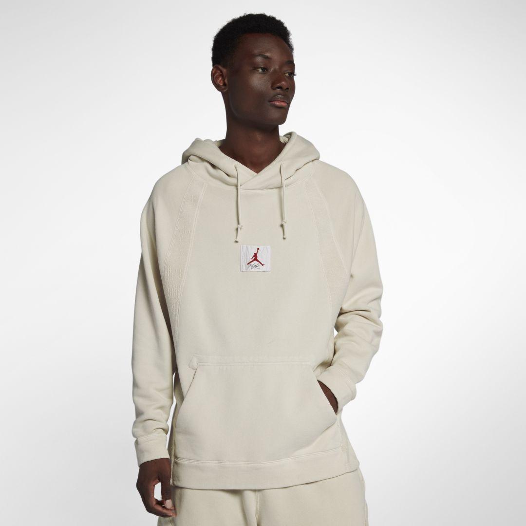143c5c74326 Jordan Sportswear Wings Men's Washed Fleece Pullover Hoodie Size 2XL (Light  Bone)