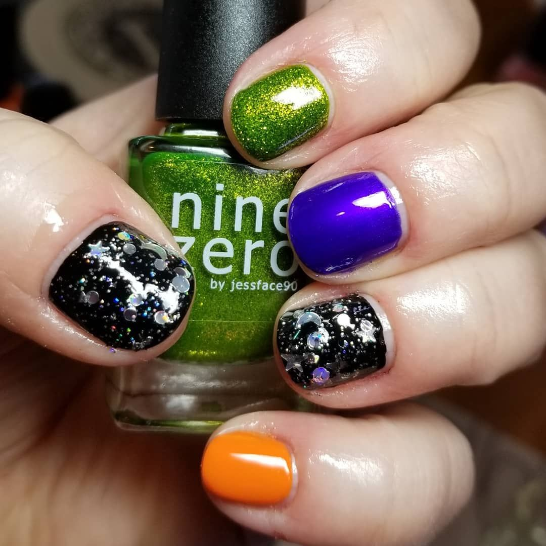 Halloween Mani ☆ Nine Zero Lacquer | Swamp Thing (index