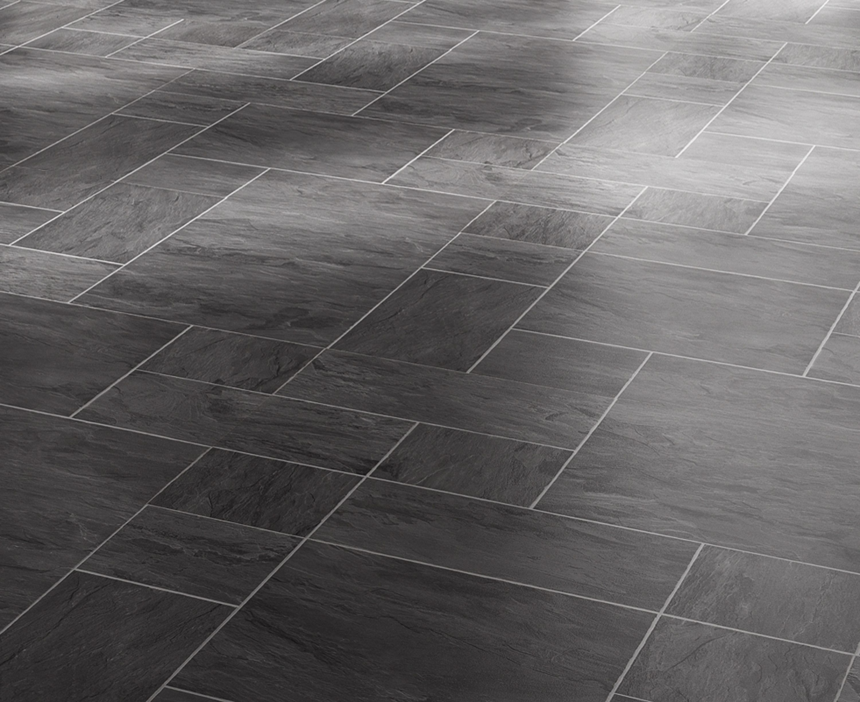 Black Slate Tile Effect Laminate Flooring Home Sweet Home