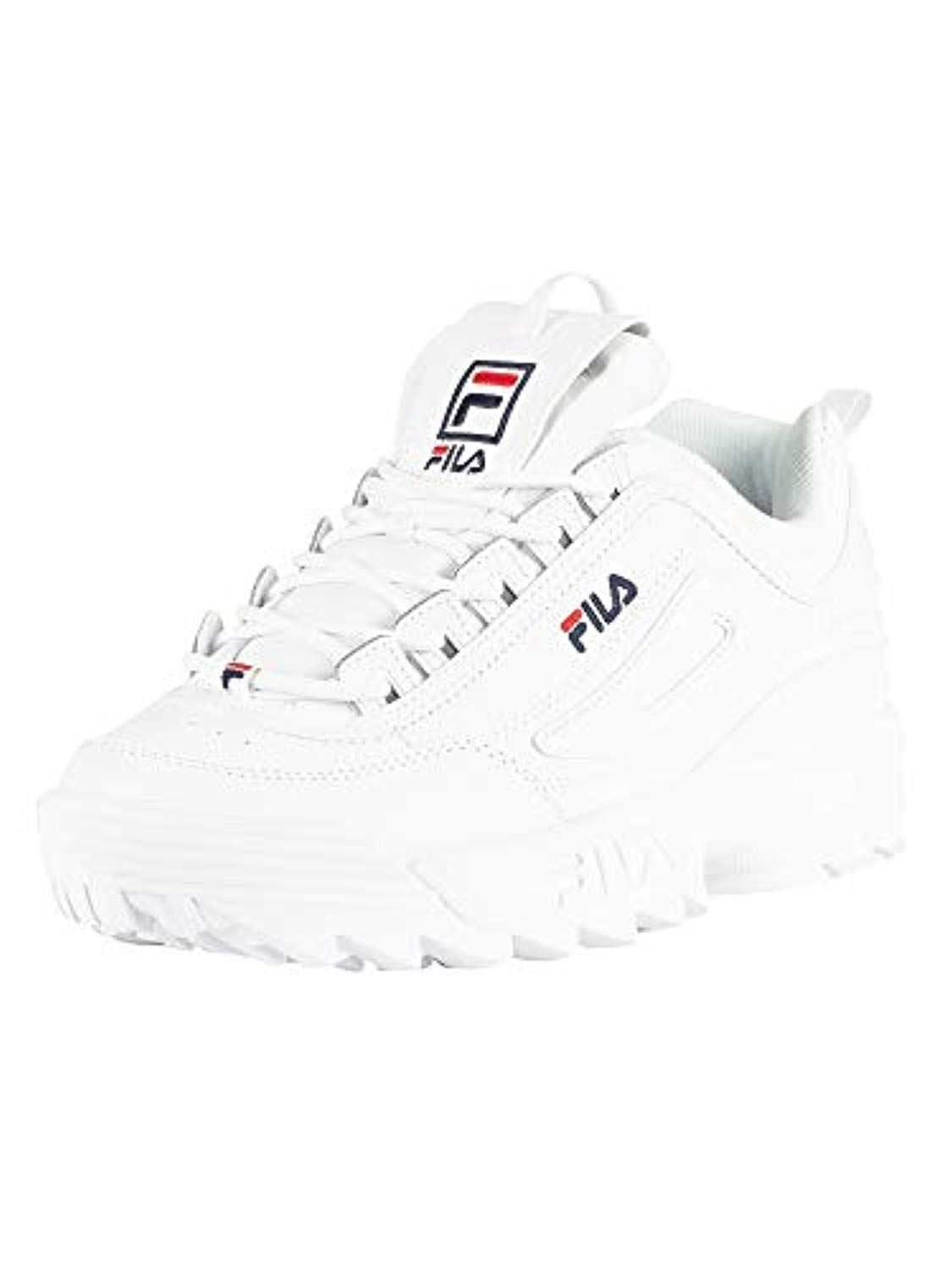 low priced 60cc2 84c50 Fila Femmes Blanc Disruptor II Premium Basket 2019
