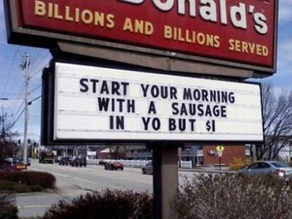 Funny Memes About Fast Food : These fast food signs are the right kind of wrong imglulz food