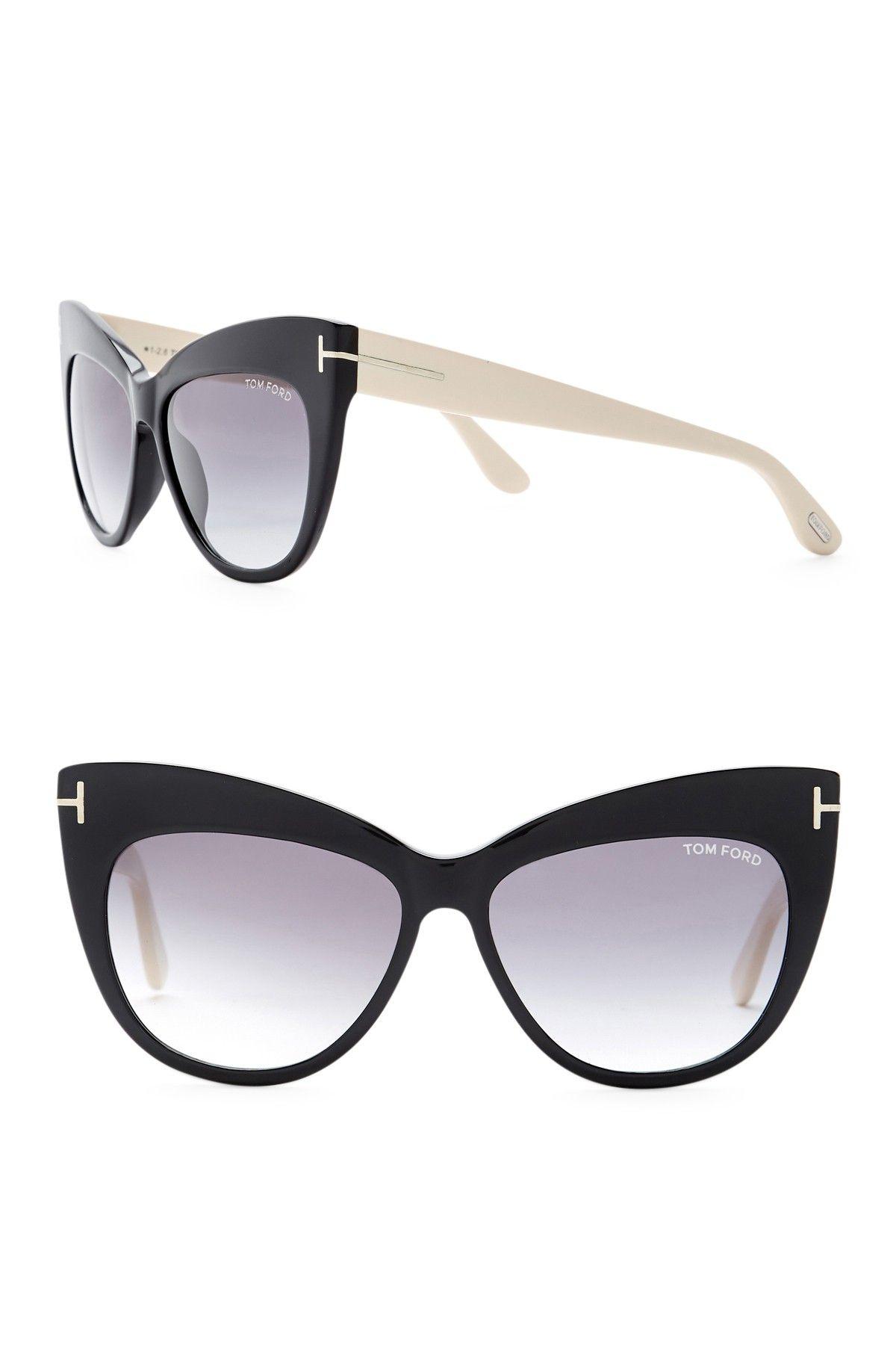 c862fb0ac0d35 Image of Tom Ford Nika 56mm Gradient Cat Eye Sunglasses