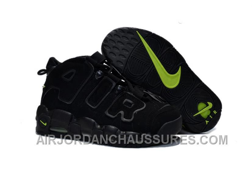 Buy GS Nike Air More Uptempo Scottie Pippen Black And Volt Green For Women  Sale from Reliable GS Nike Air More Uptempo Scottie Pippen Black And Volt  Green ... 9e8fa313e8