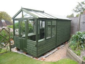 Wooden Greenhouse / Solar Potting Shed / Combined Shed Greenhouse .