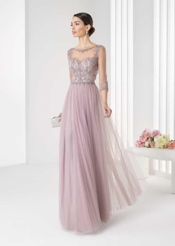 Vestidos para madrina de boda rosa clara