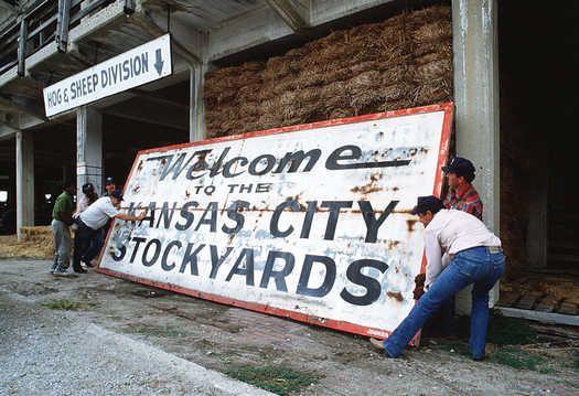 Embracing History Kc Stockyards Sign Kansas City City History