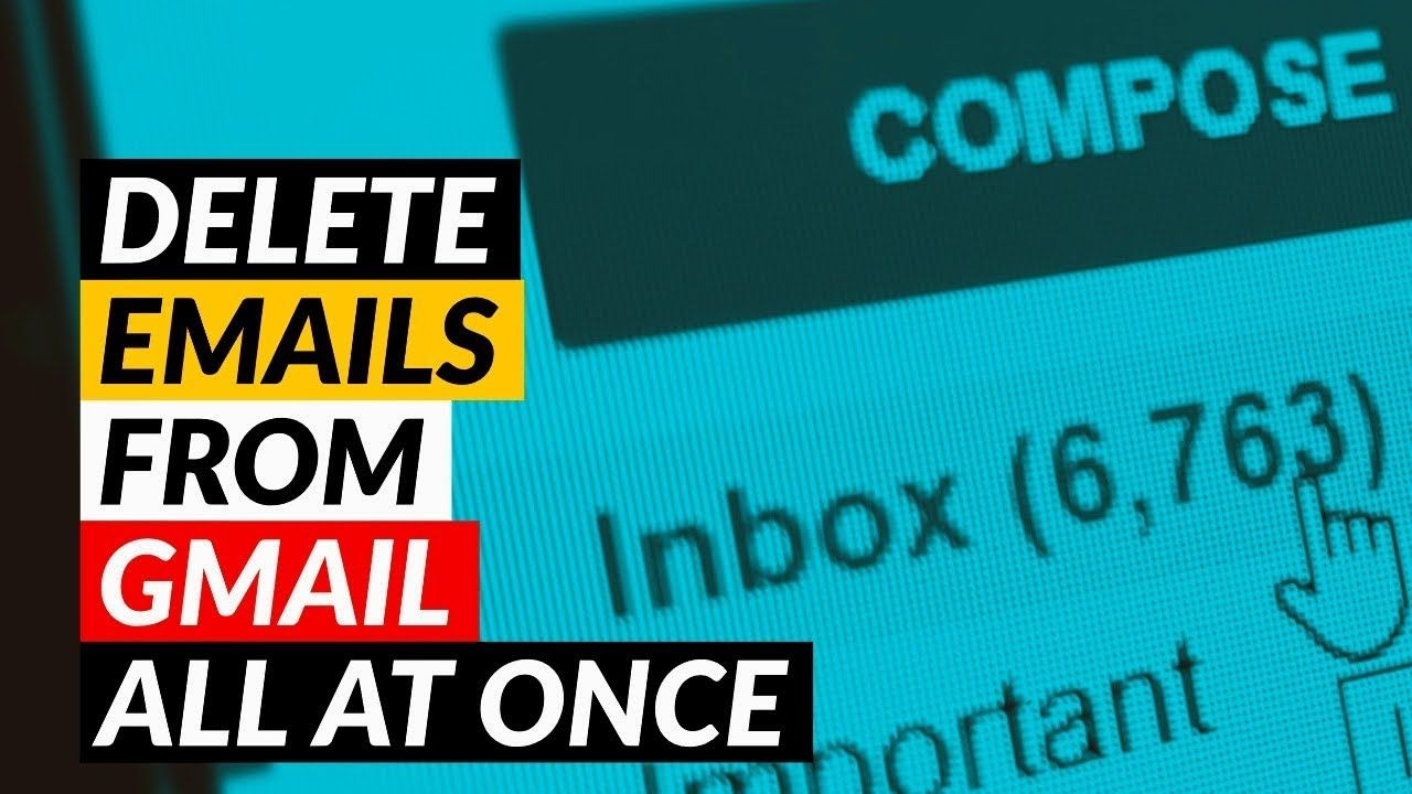 How To Delete Emails All At Once On Gmail Mass Delete Emails On Gmail Gmail Social Media Apps Email