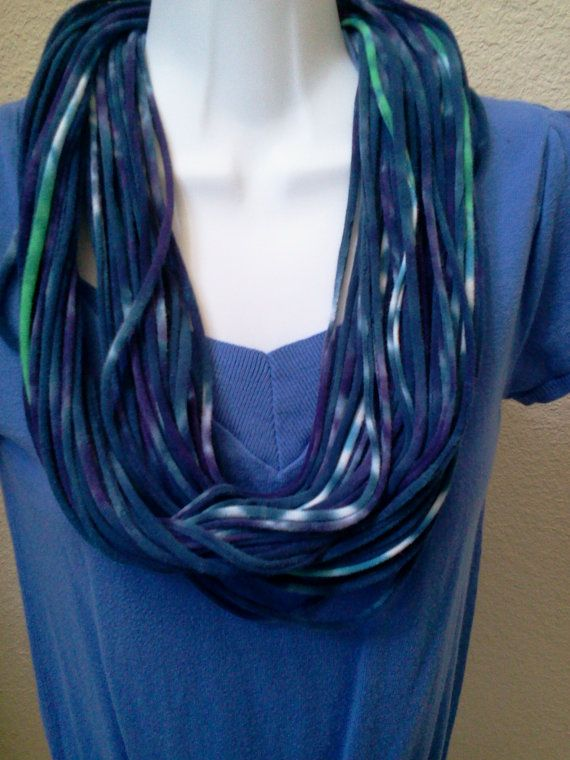 Recycle Tie Dye T Shirt Necklace by LonestarFashions on Etsy, $14.00