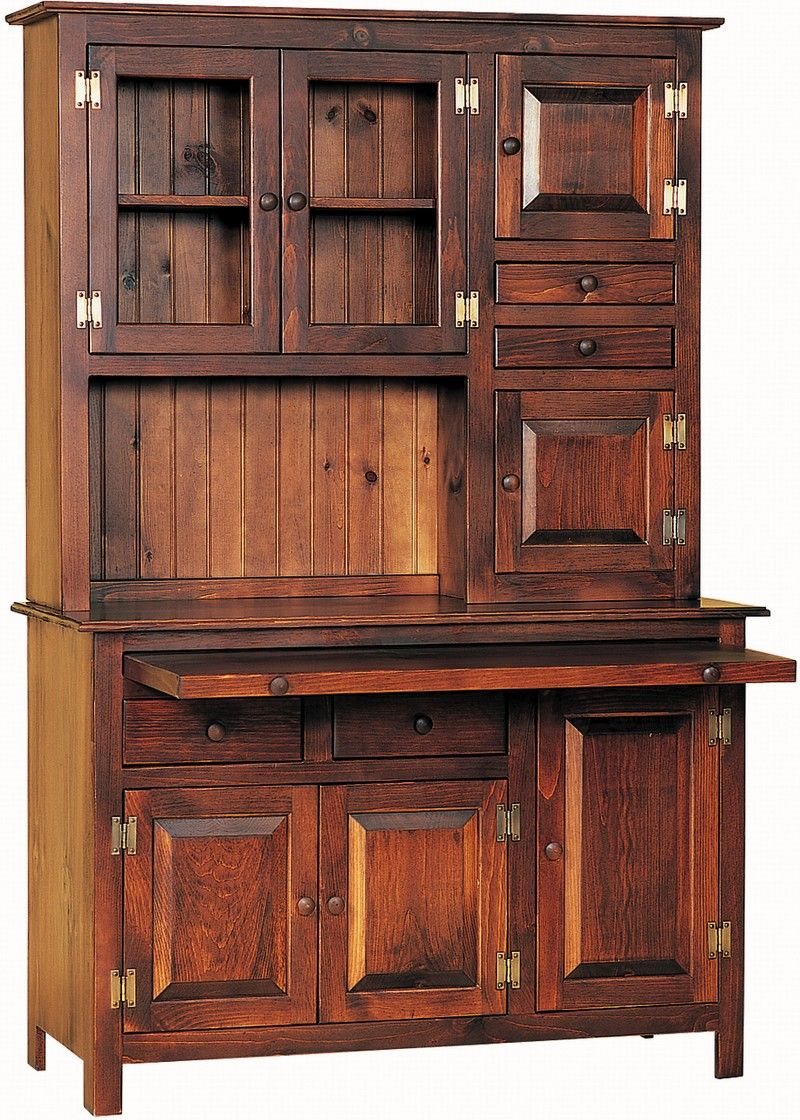 Amish Pine Hoosier Hutch Cupboard | Pine, Dining hutch and Wood ...