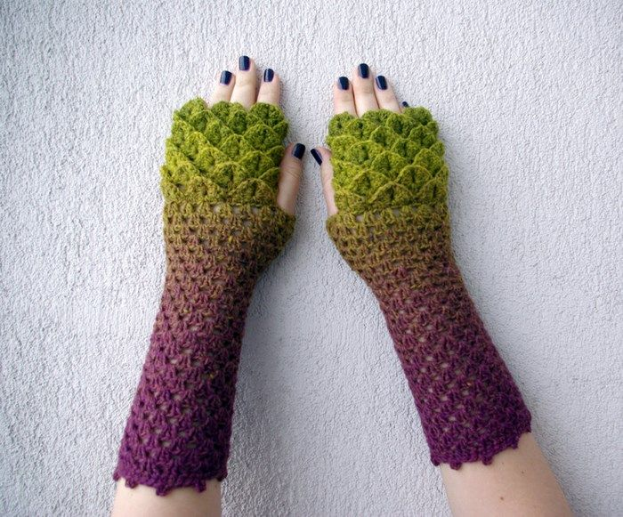 gants-dragon-7   crochet   Pinterest